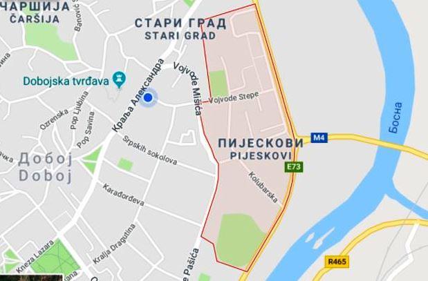 Mapa naselja Pijeskovi